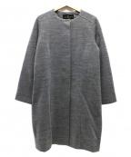 GIANNI LO GIUDICE(ジャンニ ロ ジュディチェ)の古着「シルクウールノーカラーコート」|グレー