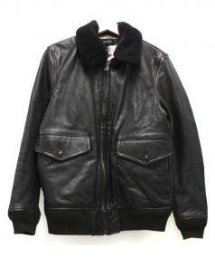 AMERICAN RAG CIE(アメリカンラグシー)の古着「襟ボアG1レザージャケット」|ブラウン