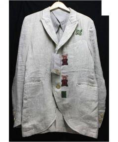 Yohji Yamamoto(ヨウジヤマモト)の古着「刺繍ジャケット」|アイボリー