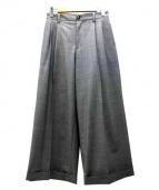 FACETASM(ファセッタズム)の古着「タックワイドパンツ」|グレー