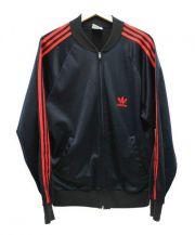 adidas(アディダス)の古着「80'Sヴィンテージトラックジャケット」 ブラック