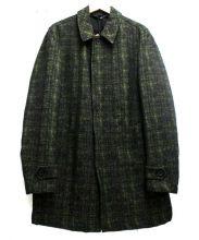 HEVO(イーヴォ)の古着「Thermoreステンカラーコート」|ブラック×グリーン