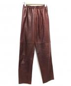 forte forte(フォルテフォルテ)の古着「ラムレザーパンツ」|ブラウン