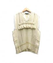 ISABEL MARANT(イザベルマラン)の古着「フリンジデザインニット」|ベージュ