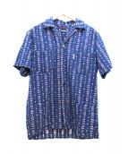 BLUE BLUE(ブルーブルー)の古着「インディゴHドビーオープンカラーシャツ」|ブルー
