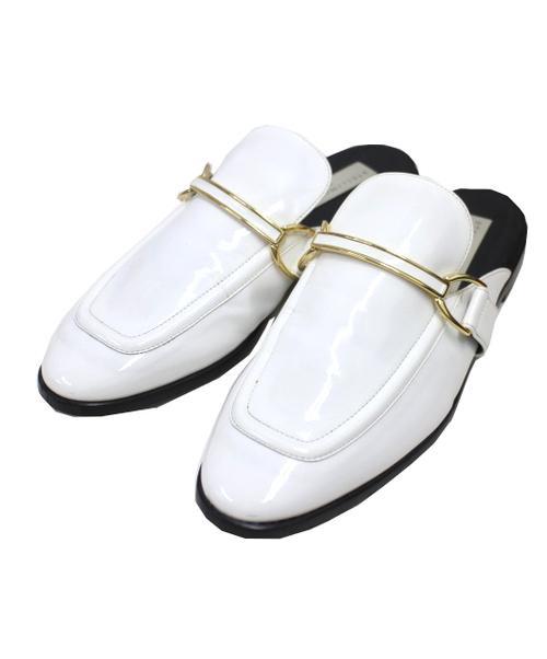 STELLA McCARTNEY(ステラ・マッカートニ)STELLA McCARTNEY (ステラ マッカートニー) パテントローファー ホワイト×ブラック サイズ:36 定価¥84,000税抜の古着・服飾アイテム