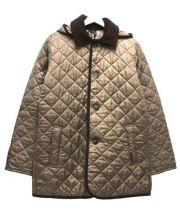 LAVENHAM(ラベンハム)の古着「フーデッドキルティングコート」|ベージュ