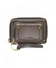 SEE BY CHLOE(シーバイクロエ)の古着「ラウンドファスナー財布」|ブラウン