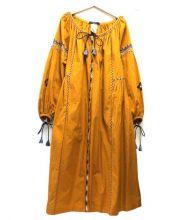 WEEKEND MAXMARA(ウィークエンド マックスマーラ)の古着「刺繍タッセルワンピース」|イエロー
