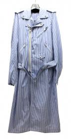COMME des GARCONS HommePlus(コムデギャルソンオムプリュス)の古着「ストライプライダースコート」|ブルー×ホワイト