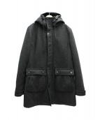 AKM(エーケーエム)の古着「ライナーフォックスファーカシミヤミックスコート」 グレー