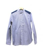 JUNYA WATANABE COMME des GARCONS MAN(ジュンヤワタナベ コムデギャルソン マン)の古着「切替BDプリントシャツ」|ブルー