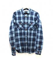 COMME des GARCONS HOMME(コムデギャルソンオム)の古着「ウールミックスチェックシャツ」