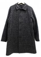 AQUOIBONISTE(アクワボニスト)の古着「チェックウールコート」