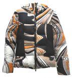 Emilio Pucci(エミリオプッチ)の古着「総柄ダウンジャケット」|ブラウン×ホワイト