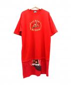 COMME des GARCONS HOMME PLUS(コムデギャルソンオムプリュス)の古着「カレッジプリントレイヤードTシャツ」|レッド