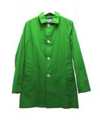 Traditional Weatherwear(トラディショナル ウェザーウェア)の古着「ステンカラーコート」|グリーン
