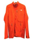THE NORTH FACE(ザノースフェイス)の古着「トレッキングフリースジャケット」|オレンジ