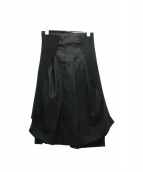 COMME des GARCONS(コムデギャルソン)の古着「デザインレイヤードスカート」|ブラック