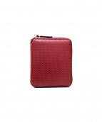 COMME des GARCONS(コムデギャルソン)の古着「ラウンドファスナー二つ折り財布」|ボルドー