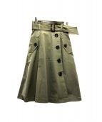 JUSGLITTY(ジャスグリッティー)の古着「ハイウエストトレンチスカート」