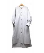 CURRENTAGE(カレンテージ)の古着「ノーカラーシャツドレス」