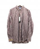 Serge Blanco×SMILEY(セルジュブランコ×スマイリー)の古着「スマイリーチェックBDシャツ」|レッド×ホワイト