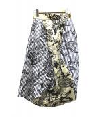 Vivienne Westwood(ヴィヴィアンウエストウッド)の古着「リネンスカート」|ベージュ×ホワイト