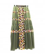 sacai(サカイ)の古着「刺繍プリーツマキシスカート」
