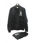木梨サイクル×younger(キナシサイクル×ヤンガー)の古着「セットアップトラックジャケット」|ブラック
