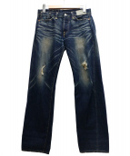 LEVIS VINTAGE CLOTHING(リーバイス ヴィンテージ クロージング)の古着「1966年復刻ダメージ加工デニムパンツ」 インディゴ
