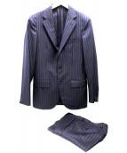 UNITED ARROWS TOKYO(ユナイテッドアローズ)の古着「UDETストライプコンフォートスーツ」|ネイビー