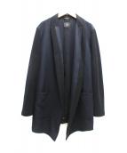 ato(アトウ)の古着「異素材テーラードジャケット」|ネイビー×ブラック
