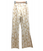 eimy istoire(エイミー イストワール)の古着「pythonフレアパンツ」|ベージュ