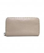 FENDI(フェンディ)の古着「ラウンドファスナー長財布」|ベージュ