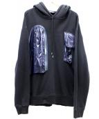 Calvin Klein(カルバンクライン)の古着「ナイロンパッチポケットプルオーバーパーカー」|ブラック×ネイビー