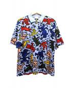 LACOSTE×Keith Haring(ラコステ×キースヘリング)の古着「Keith Haringポロシャツ」|マルチカラー