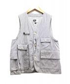 Engineered Garments(エンジニアードガーメンツ)の古着「ハンティングベスト」|ホワイト×ネイビー