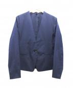 icB(アイシービ)の古着「ノーカラージャケット」|ネイビー