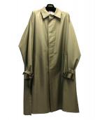 LOUIS VUITTON(ルイヴィトン)の古着「シルク混ステンカラーコート」|ベージュ