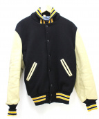 SKOOKUM(スクーカム)の古着「袖レザースタジャン」|ブラック×ベージュ