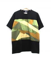 COMME des GARCONS HOMME(コムデギャルソンオム)の古着「Camouflage Big T」|ブラック×カーキ