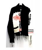 bukht(ブフト)の古着「クレイジーカウチンニットカーディガン」|ブラック