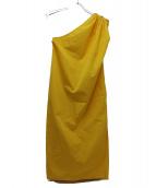 MaxMara(マックスマーラ)の古着「ピュアコットンポプリンドレス」|イエロー