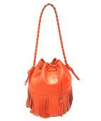 J&M Davidson(ジェイアンドエムデビットソン)の古着「セミショルダーバッグ」 オレンジ
