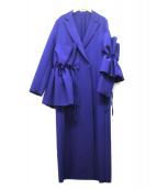 MSGM(エムエスジーエム)の古着「デザインコート」 ブルー