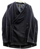 Needles(ニードルス)の古着「デニム作務衣ジャケット」|ブラック