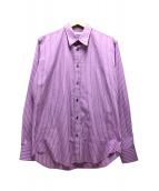 JOHN LAWRENCE SULLIVAN(ジョンローレンスサリバン)の古着「ストライプシャツ」|パープル