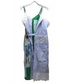 JUNYA WATANABE CDG(ジュンヤワタナベコムデギャルソン)の古着「MULTI-PANEL WRAP DRESS」 スカイブルー