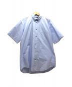 BALENCIAGA(バレンシアガ)の古着「バックロゴBIGシャツ」 ブルー